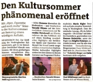 Kultursommer Neulengbach Bezirksblätter